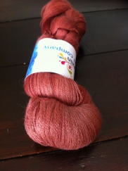 Another Brick in the Wall Alpaca lace, 1200 metres, 100g, 50 percent merino, 50 per cent alpacha