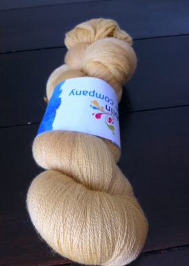Mustard merino lace, 1200 metres, 100g, 80 percent merino, 20 per cent silk